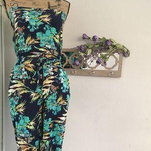 MUDD, tropical pattern jumpsuit.